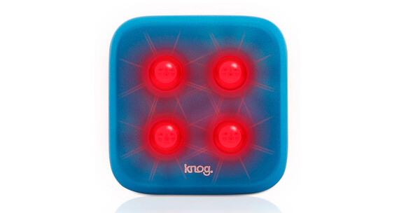 Knog Blinder fietsverlichting 4 rode led, standaard blauw